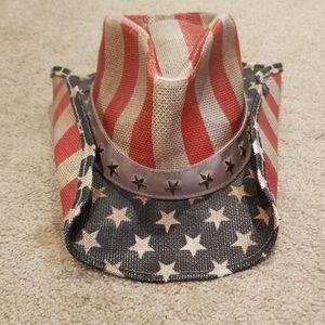 American Flag Peter Grimm Cowboy Hat